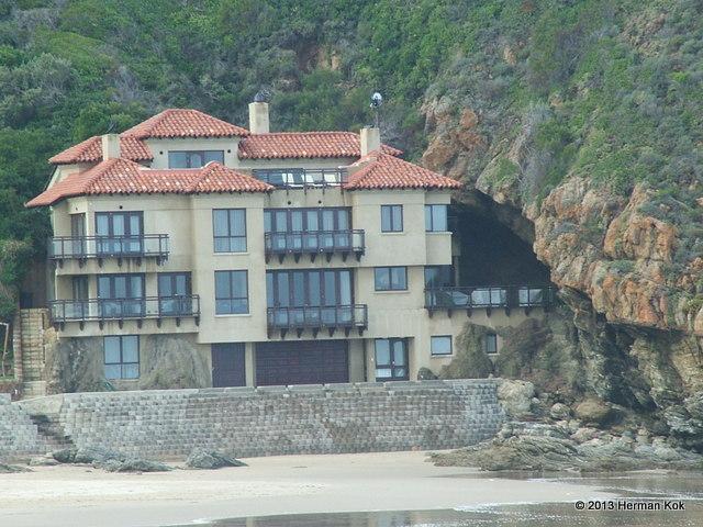 House built under mountain