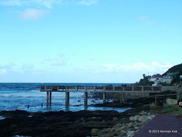 Stone pier at Victoria Bay