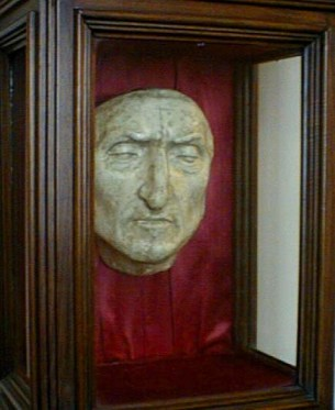 Dante Alighieri, author of the original Inferno.  He doesn't look impressed either.