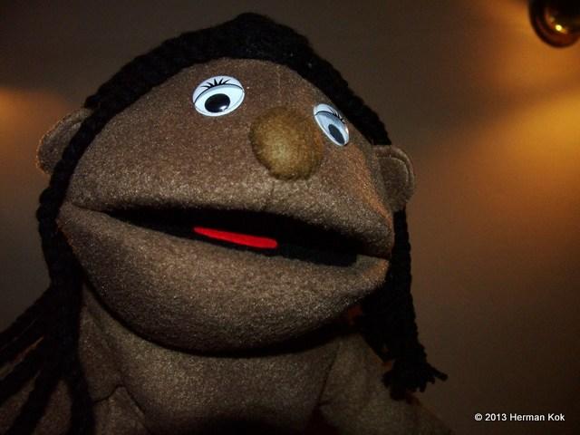 Puppet selfie