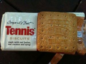 Tennis biscuits