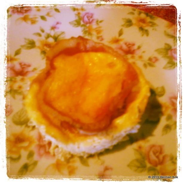 Egg and bacon cupcake