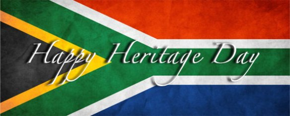 South African flag heritage day