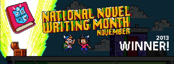 NaNoWriMo winner cover image