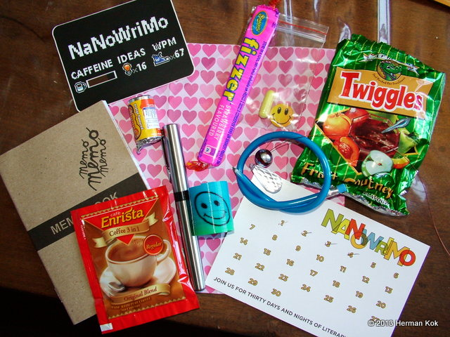 NaNoWriMo goodie bag