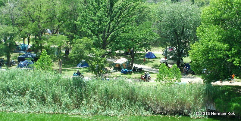Campground with bikers