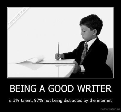 Being a good writer de-motivation poster