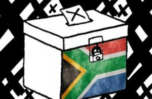 SA Flag ballot box