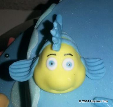 Little Mermaid Flounder Fondant Figurine