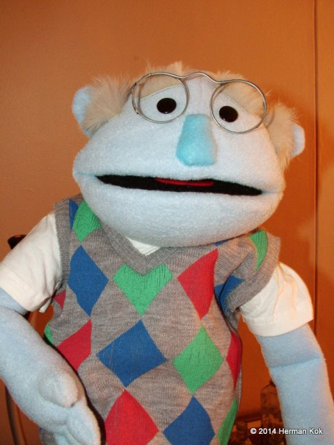 Grandpa puppet