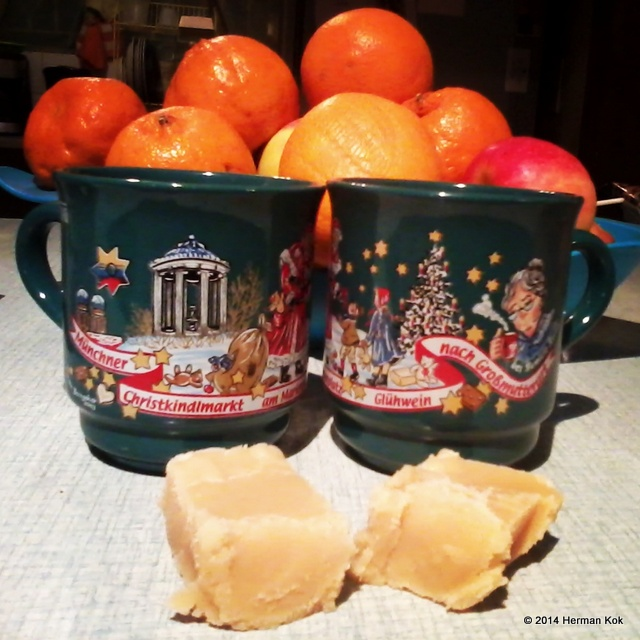 Gluhwein and fudge
