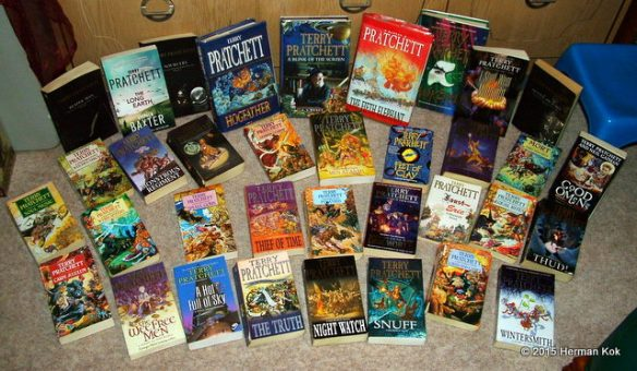 Personal collection of Terry Pratchett books