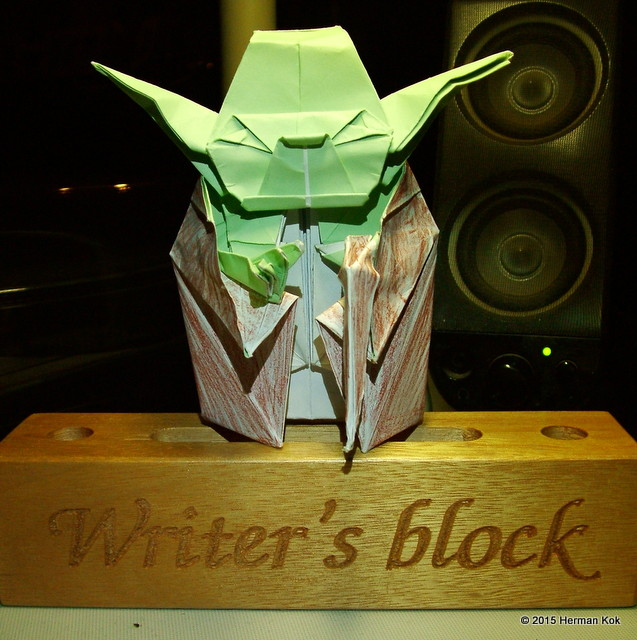 Origami Yoda on a Writer's Block