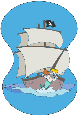 Triton's Hammer Pirate Ship illustration