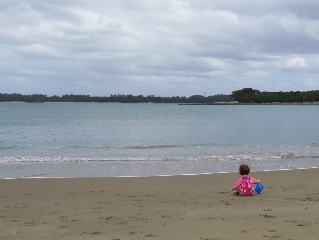 toddler on the beach